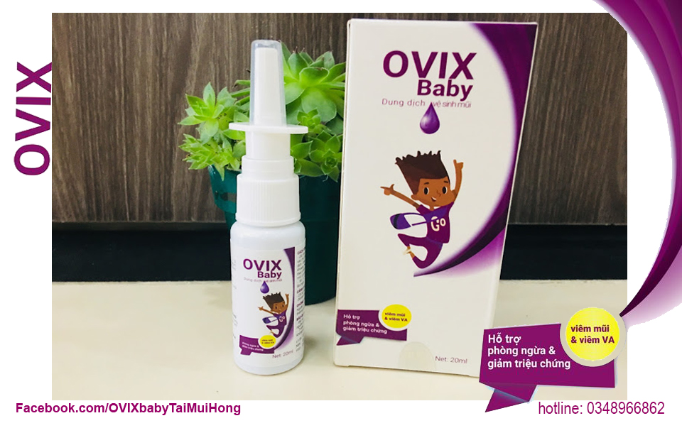 dung dịch xịt mũi ovix baby