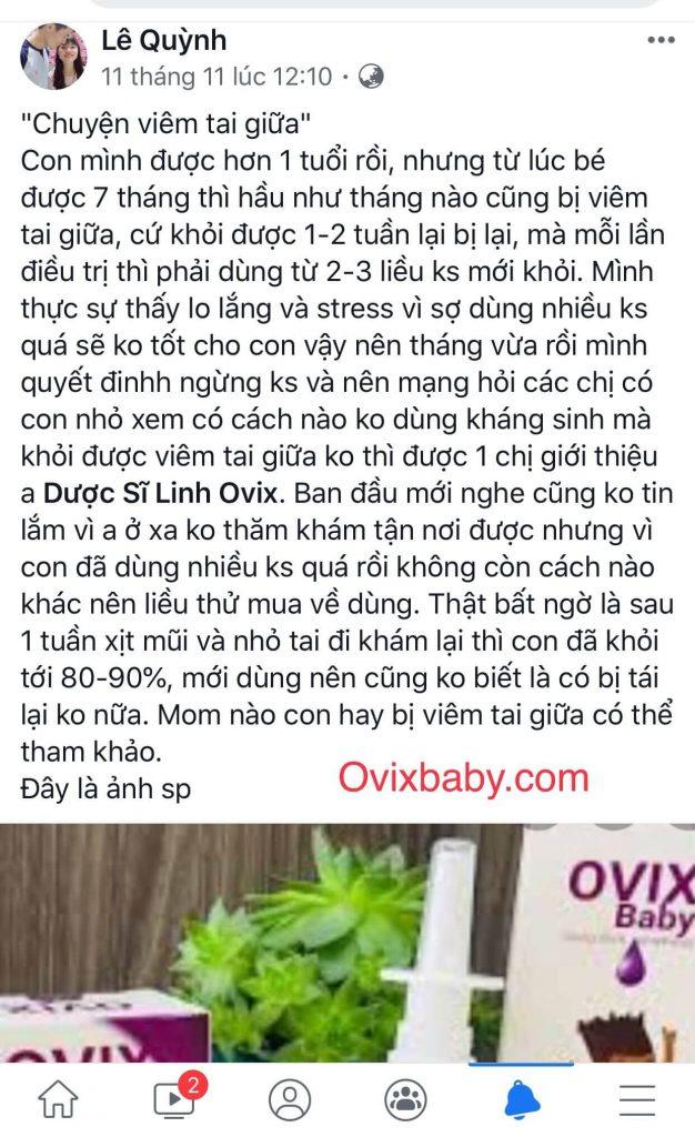 Phản hồi của người dùng về Ovix