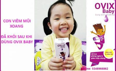 Bẽ 5 tuổi đã khỏi viêm mũi xoang nhờ dùng ovix baby