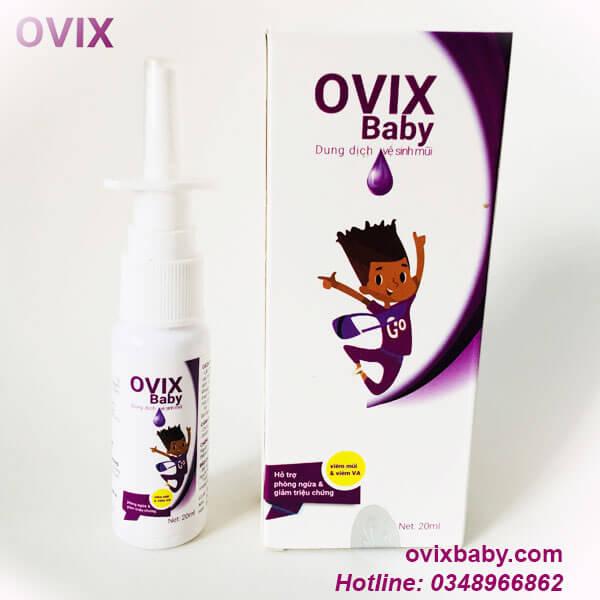 ovix baby dung dịch vệ sinh mũi dùng khi viêm mũi viêm xoang viêm mũi dị ứng