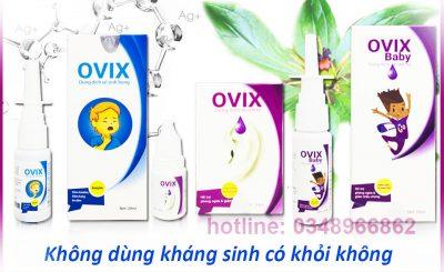 Ovix dung dịch vệ sinh tai mũi họng không kháng sinh