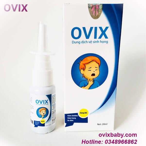 Xịt họng Oivx dùng khi viên họng, viêm amidan, ho đờn