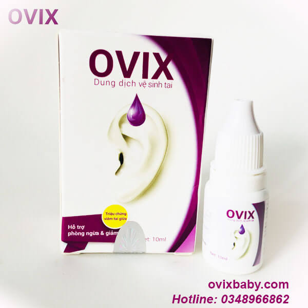 Ovix tai dùng khi viêm tai giữa