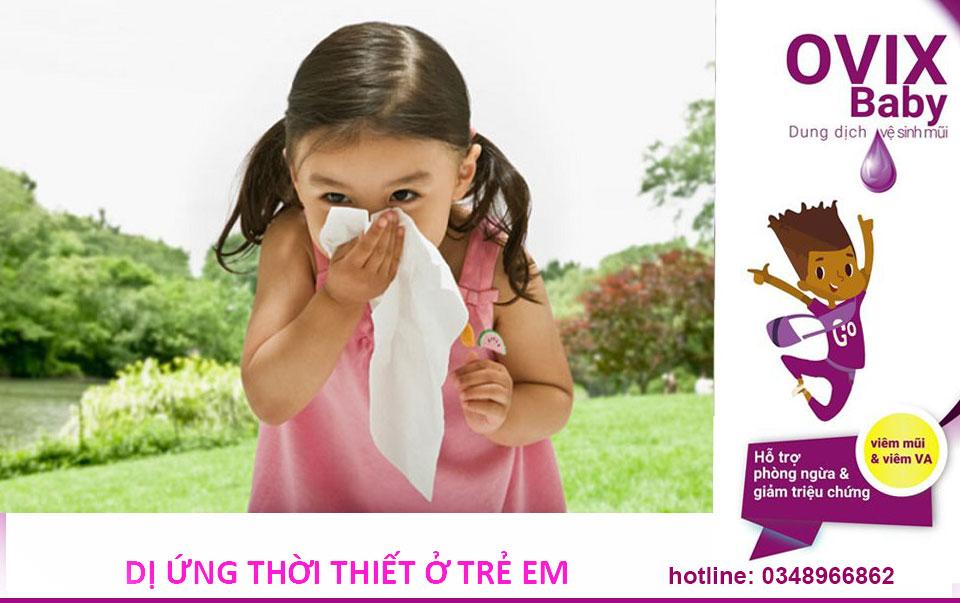 Dị ứng thời tiết ở trẻ em phòng ngừa và cách điều trị