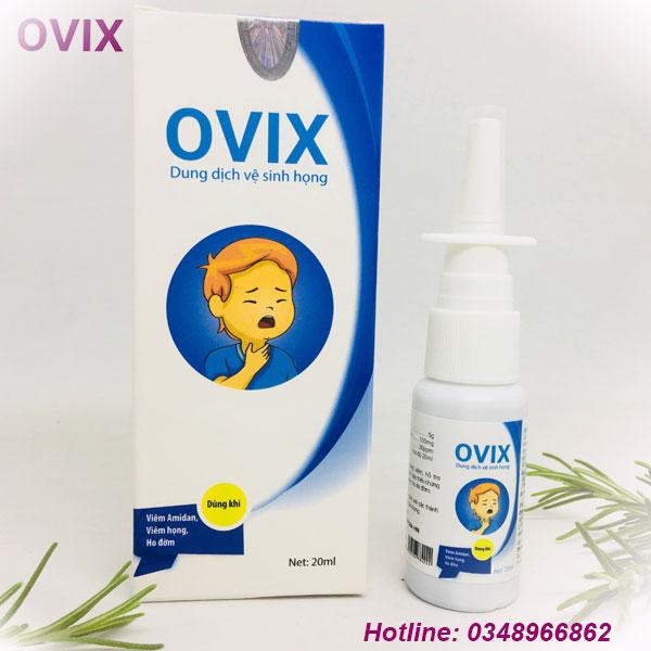 Ovix Họng dùng trong các trường hợp viêm họng, viêm Amidan hoặc gặp các vấn đề về họng