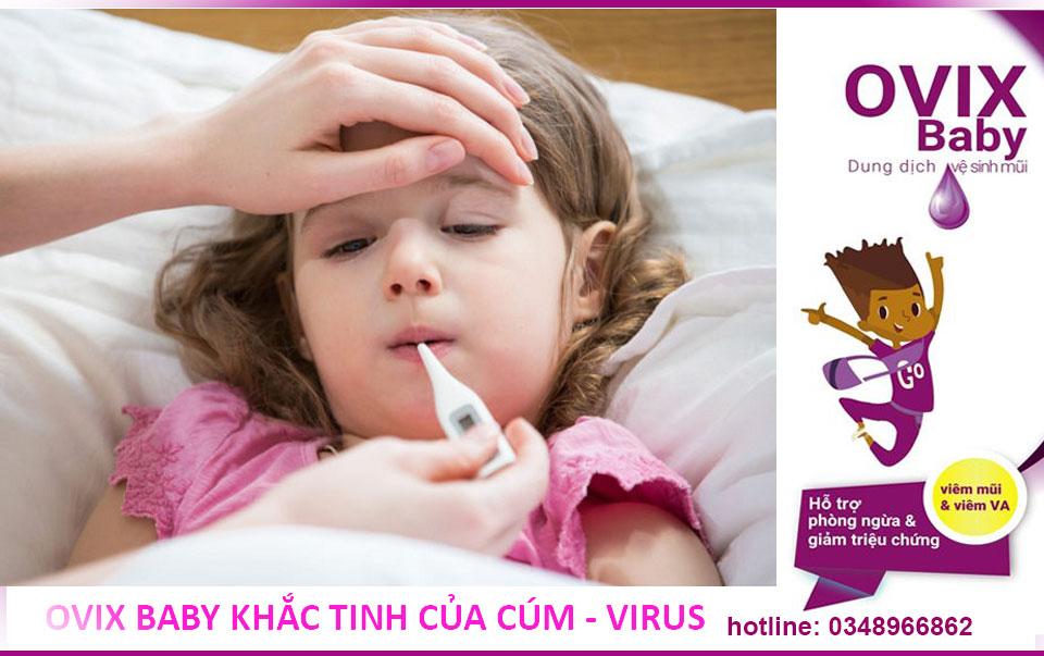 Ovix baby dự phòng cúm virus hiệu quả cho cả người lớn và trẻ em