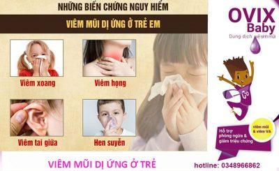 Viêm mũi dị ứng ở trẻ em có thể gặp những biến chứng nguy hiểm