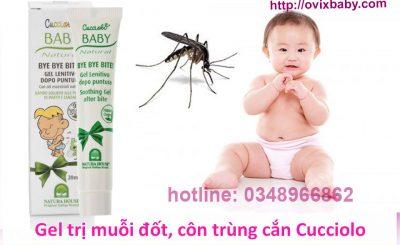 Gel trị muỗi đốt, côn trùng cắn Cucciolo