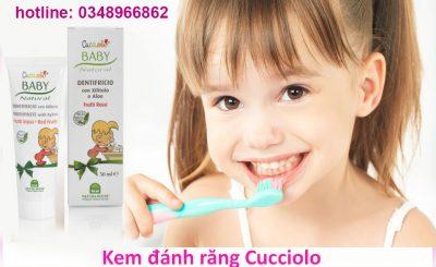 Kem đánh răng Cucciolo an toàn cho bé