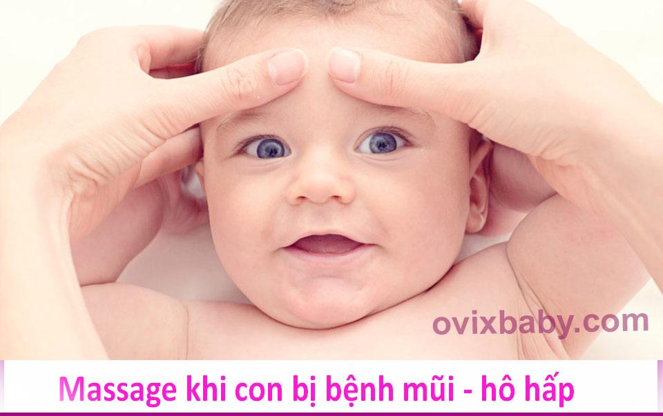 Massage cho trẻ bị bệnh mũi - hô hấp