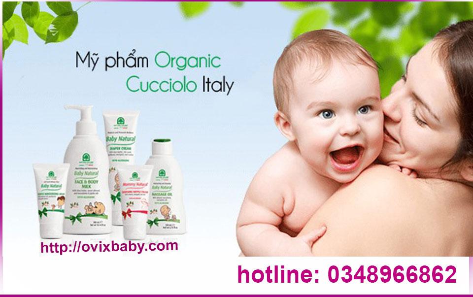 Mỹ phẩm Mẹ Bé Organic Cucciolo Italy