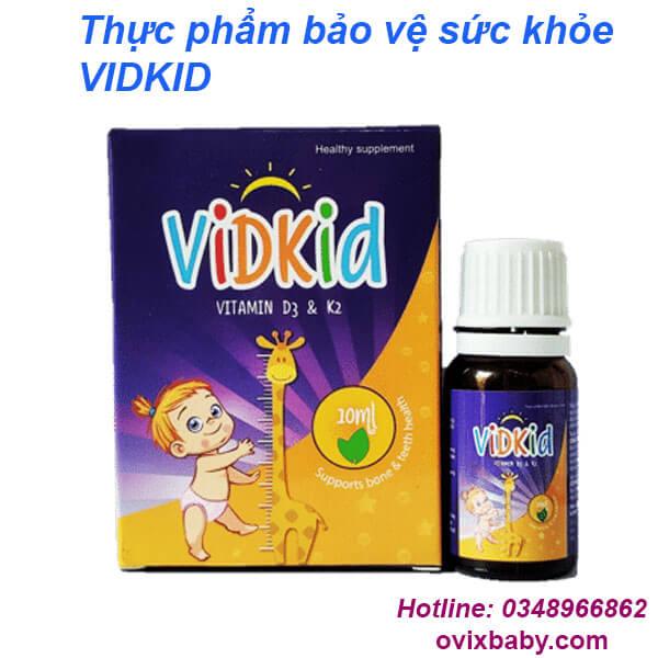 Vidkid D3K2  bổ sung Vitamin D3, Vitamin K2 cho trẻ