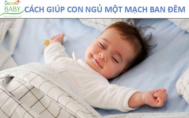 cách giúp bé ngủ ngon