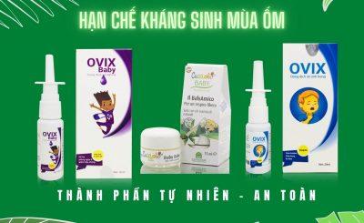 Giảm ho sổ mũi hạn chế kháng sinh mùa ốm cho trẻ