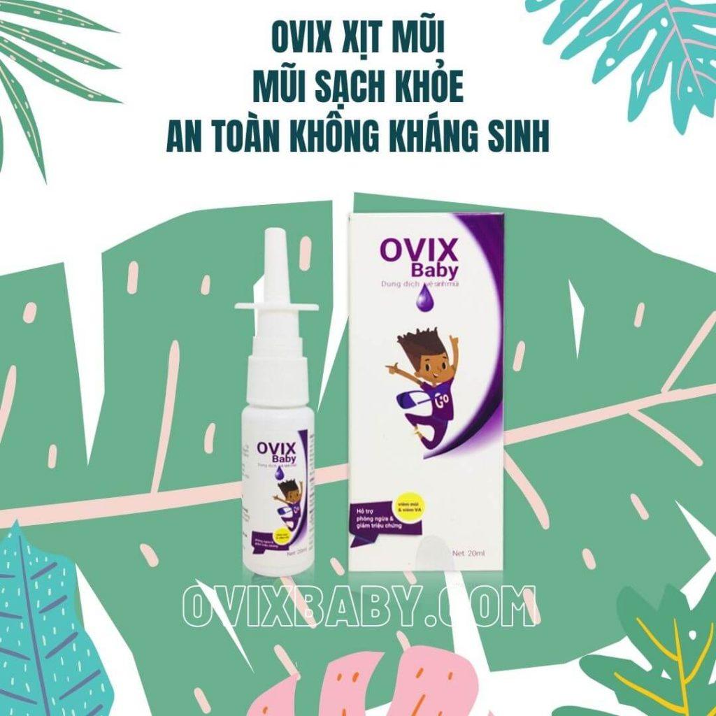 Ovix baby xịt mũi sạch khỏe an toàn không kháng sinh