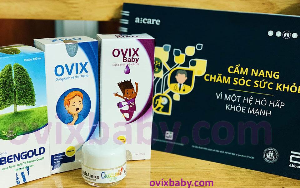 Ovix xịt mũi họng và sáp ấm bảo vệ hệ hô phấm cho bé hạn chế kháng sinh