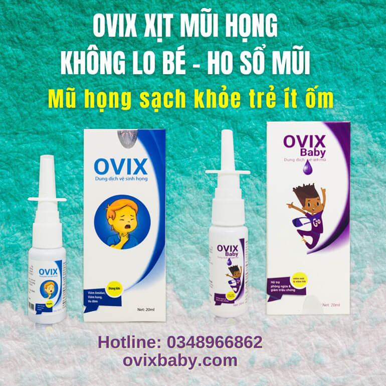 Ovix mũi họng sạch khỏe trẻ ít ốm không lo ho sổ mũi