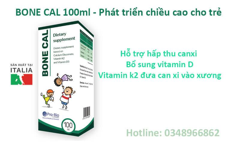 Bone Cal bổ sung vitamin D3 và K2 phát triển chiều ca