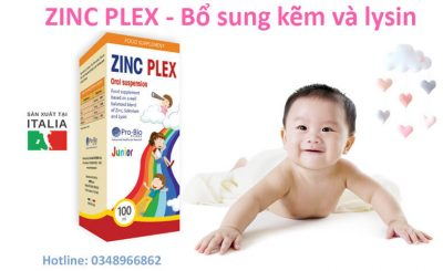 ZinC Plex là sản phẩm bổ sung Kẽm.Lysin và Selen tăng sức đề kháng giúp trẻ ăn ngon miệng