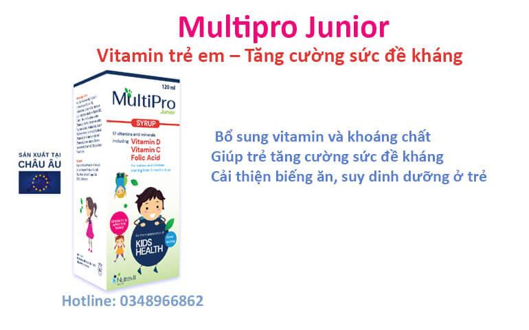 MULTIPRO JUNIOR bổ sung vitamin và khoáng chất để trẻ phát triển khỏe mạnh