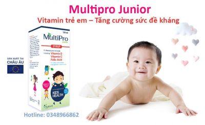 Multipro Junior bổ sung vitamin tăng cường đề kháng cho trẻ giảm biếng ăn