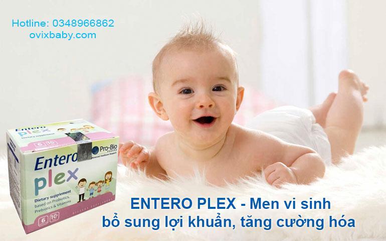 Men vi sinh Entero Plex tăng miễn dịch giảm rối loại tiêu hóa