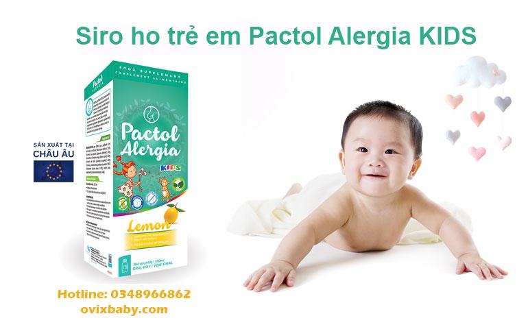 Siro ho Pactol Alergia Kids giảm ho dịu cổ họng