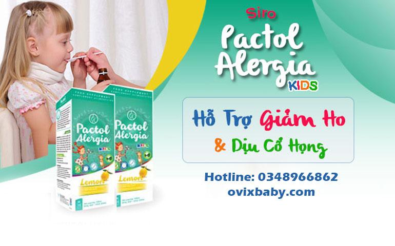 Siro ho Pactol Alergia Kids giảm ho do cảm lạnh