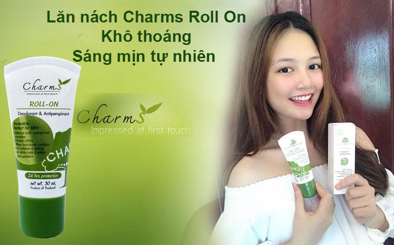 Lăn nách Charms-Roll on giúp nách dạch khô thoáng sáng mịn tự nhiên