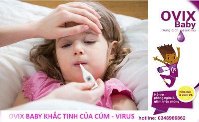 Ovix baby dự phòng cúm virus phòng bệnh hô hấp hiệu quả