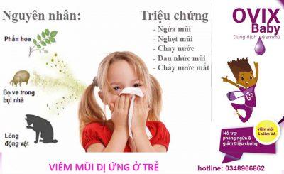 bệnh viêm mũi dị ứng ở trẻ nhỏ nguyên nhân và phòng tránh