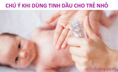 Có nên dùng tinh dầu cho trẻ nhỏ không