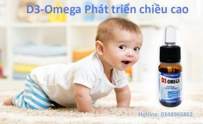 D3-Omega giúp bổ sung vitamin D3 và Omega 3 giúp trẻ phát triển chiều cao