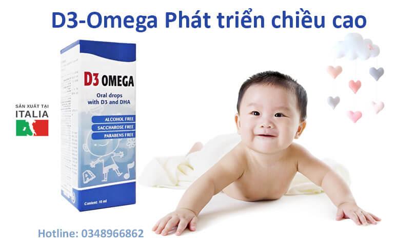 D3-Omega giúp bổ sung vitamin D3 và Omega 3 giúp trẻ cao lớn khỏe mạnh
