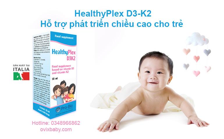 HealthyPlex D3 K2 Chính hãng từ Ýtăng chiều cao cho trẻ